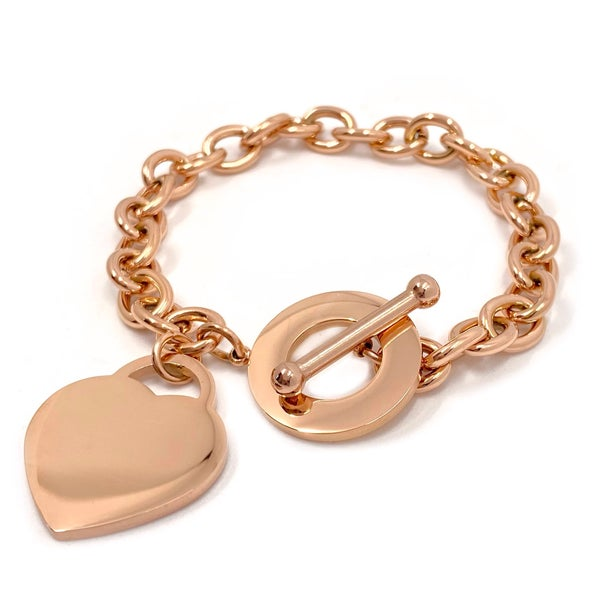 Image of Armband HEART Herzanhänger rosé