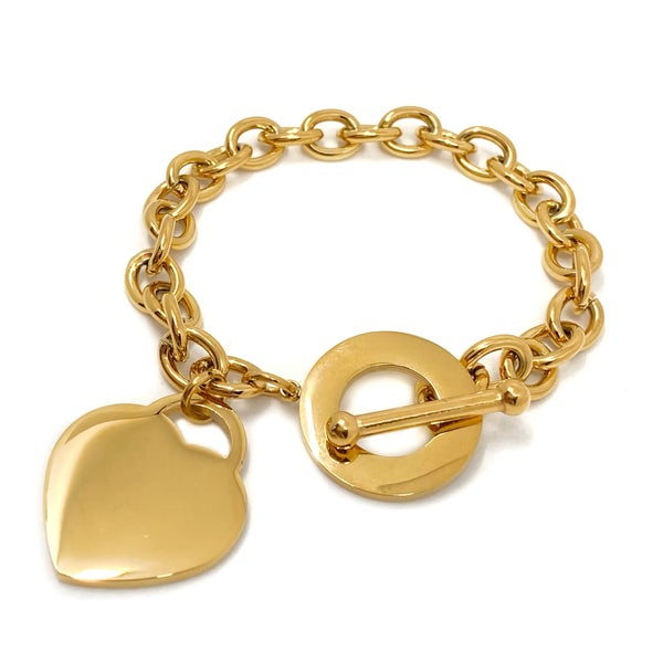 Image of Armband HEART Herzanhänger gold