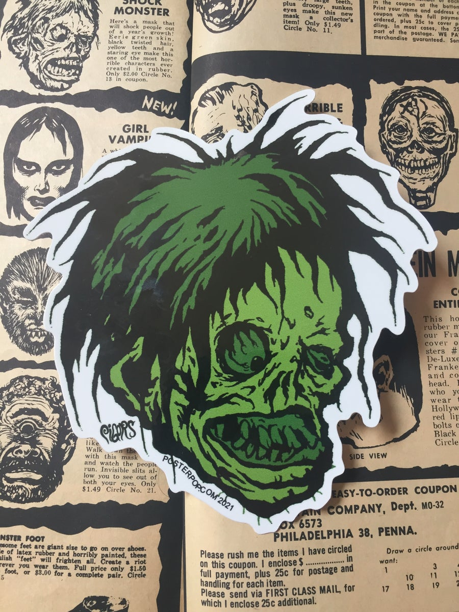 Image of SHOCK MONSTER - green sticker
