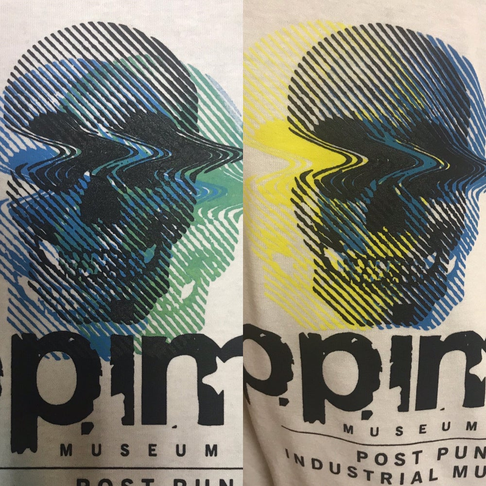 Image of 3 Color Handscreened One of a Kind Museum of Post Punk and Industrial Music Shirt