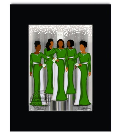 Image of Ladies Stepping Out (Ladies in Green)