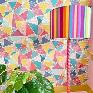 Image of NEW 'City Stripe Pink' Lampshade