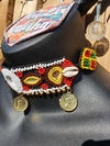Gorgeous tribal choker with bell ties