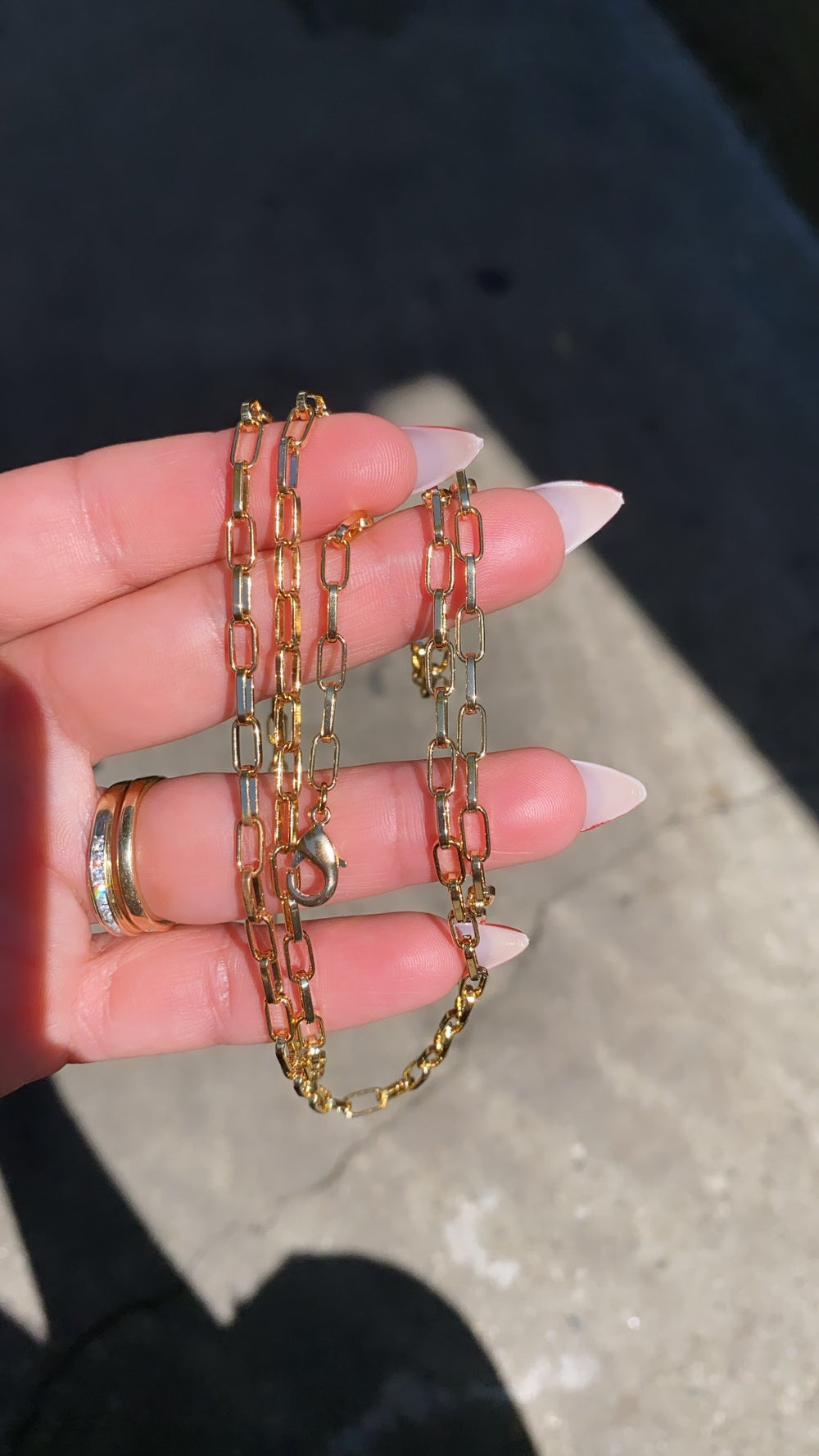 Image of 18K GOLD PLATED PAPERCLIP WAIST CHAIN | BELLY CHAIN