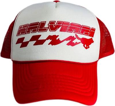 Image of KALVIARI KUANTUM LEAP TRUCKER HAT (RED)