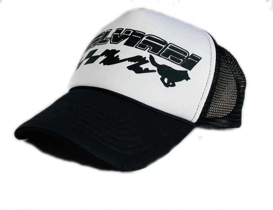 Image of KALVIARI KUANTUM LEAP TRUCKER HAT (BLK)