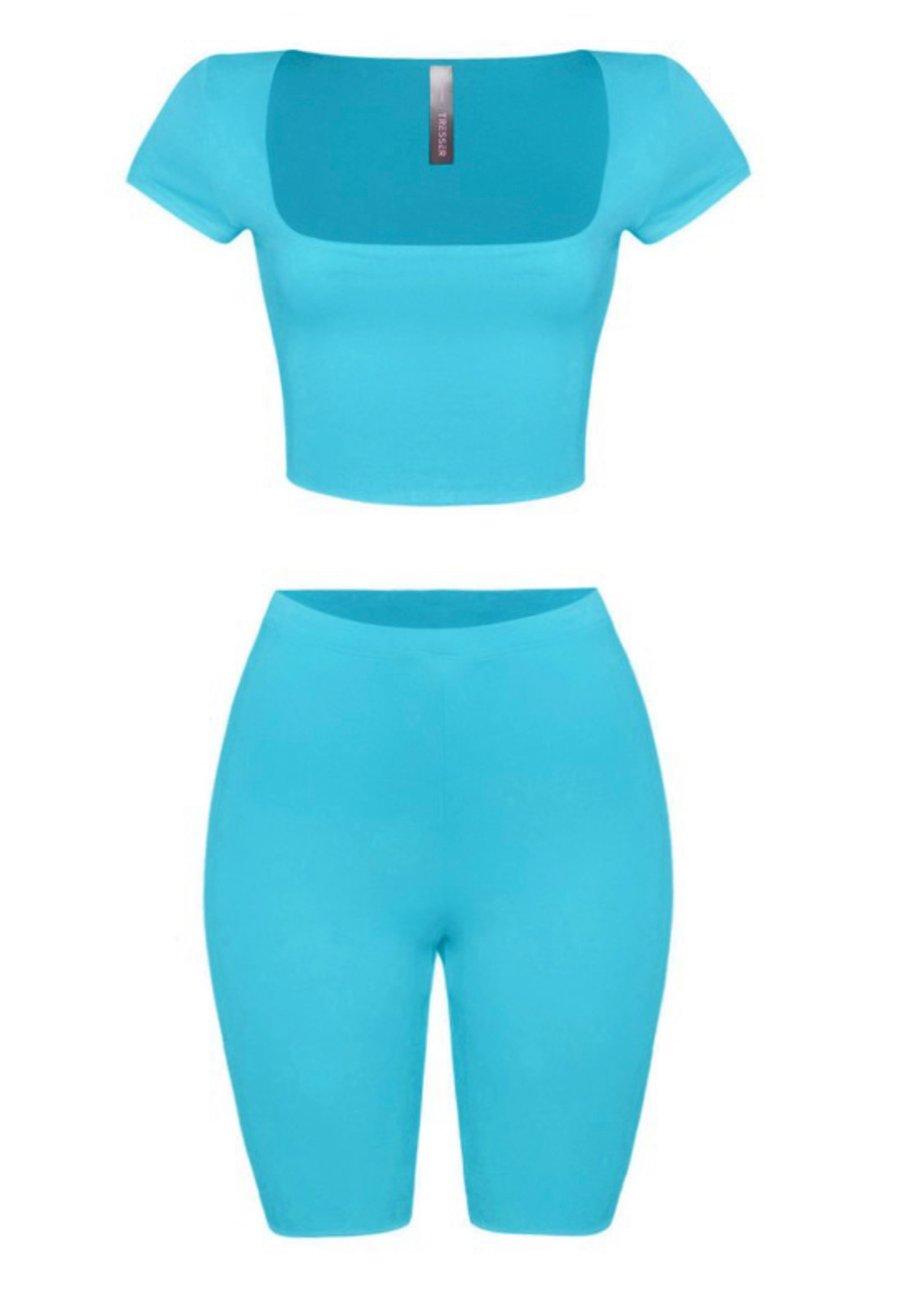 Image of Turquoise | Biker Short Set