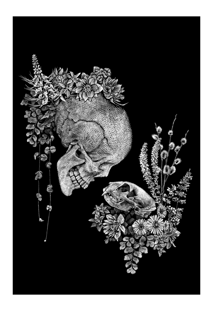 Image of 'Two Hearts' - Print