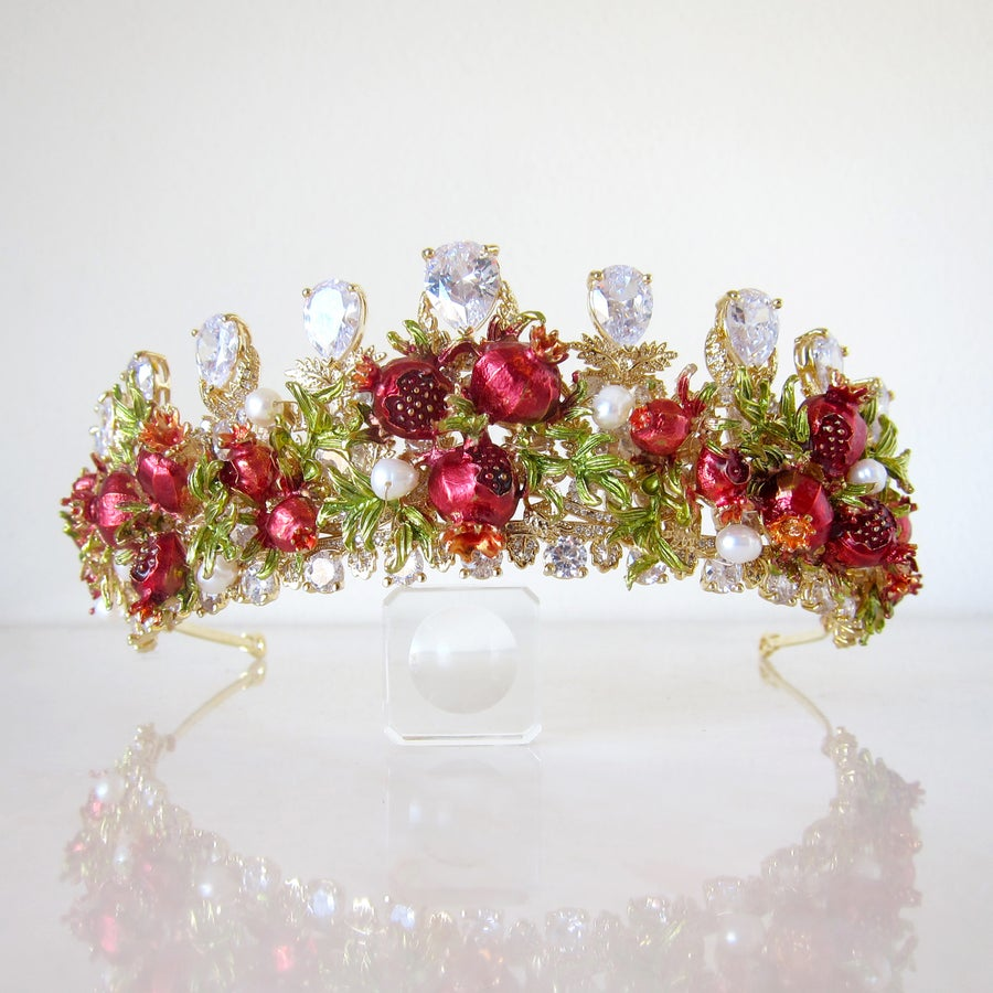 Image of Pomegranate Paradise tiara