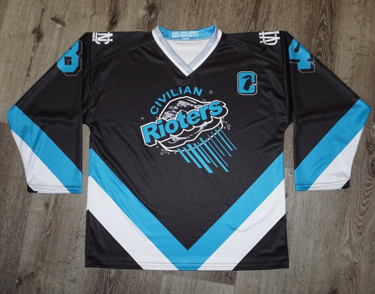 Rioters Hockey Jersey OG Black Personalized.