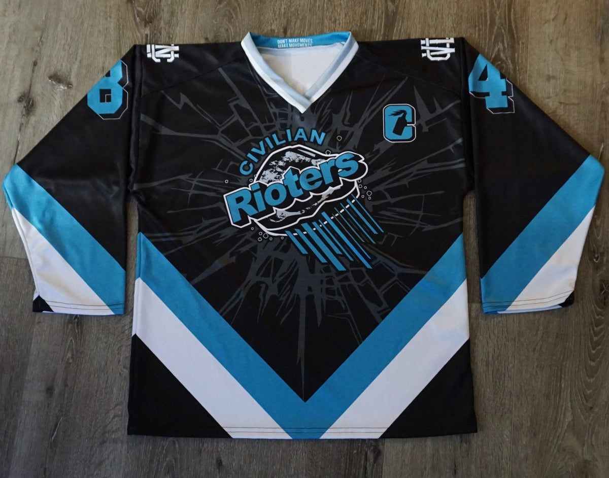 RIOTERS HOCKEY JERSEY BROKEN GLASS PERSONALIZED