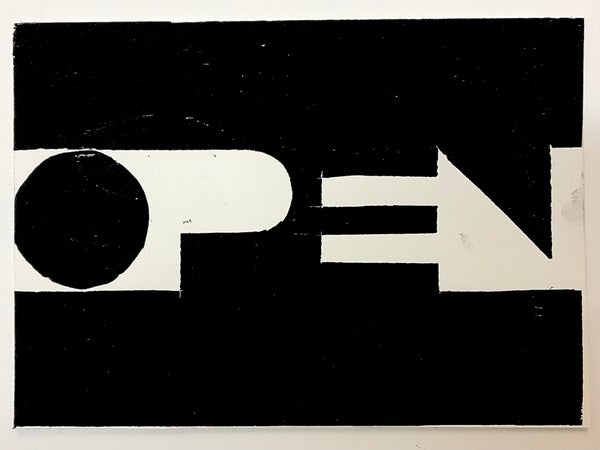 Image of OPEN  (part of the Printers Block series)