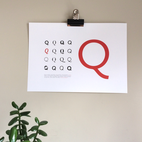 Image of Typography Print, Q