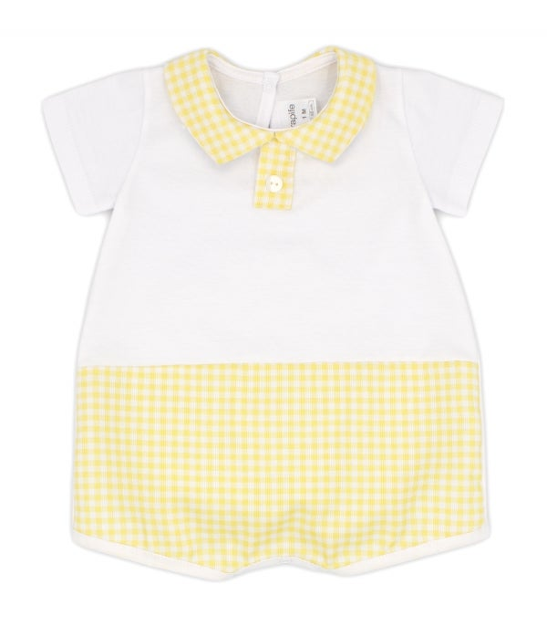 Image of Rapife Lemon Gingham Romper
