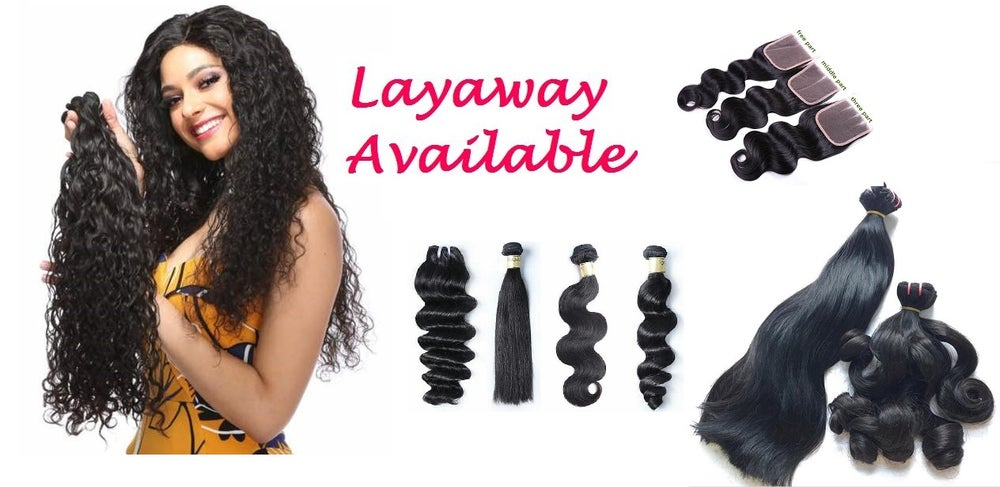"""Image of Luxurious Virgin Hair One Price Fits All  LayAway, Mix 3pcs upto 30"""" w/ lace closure or frontal"""