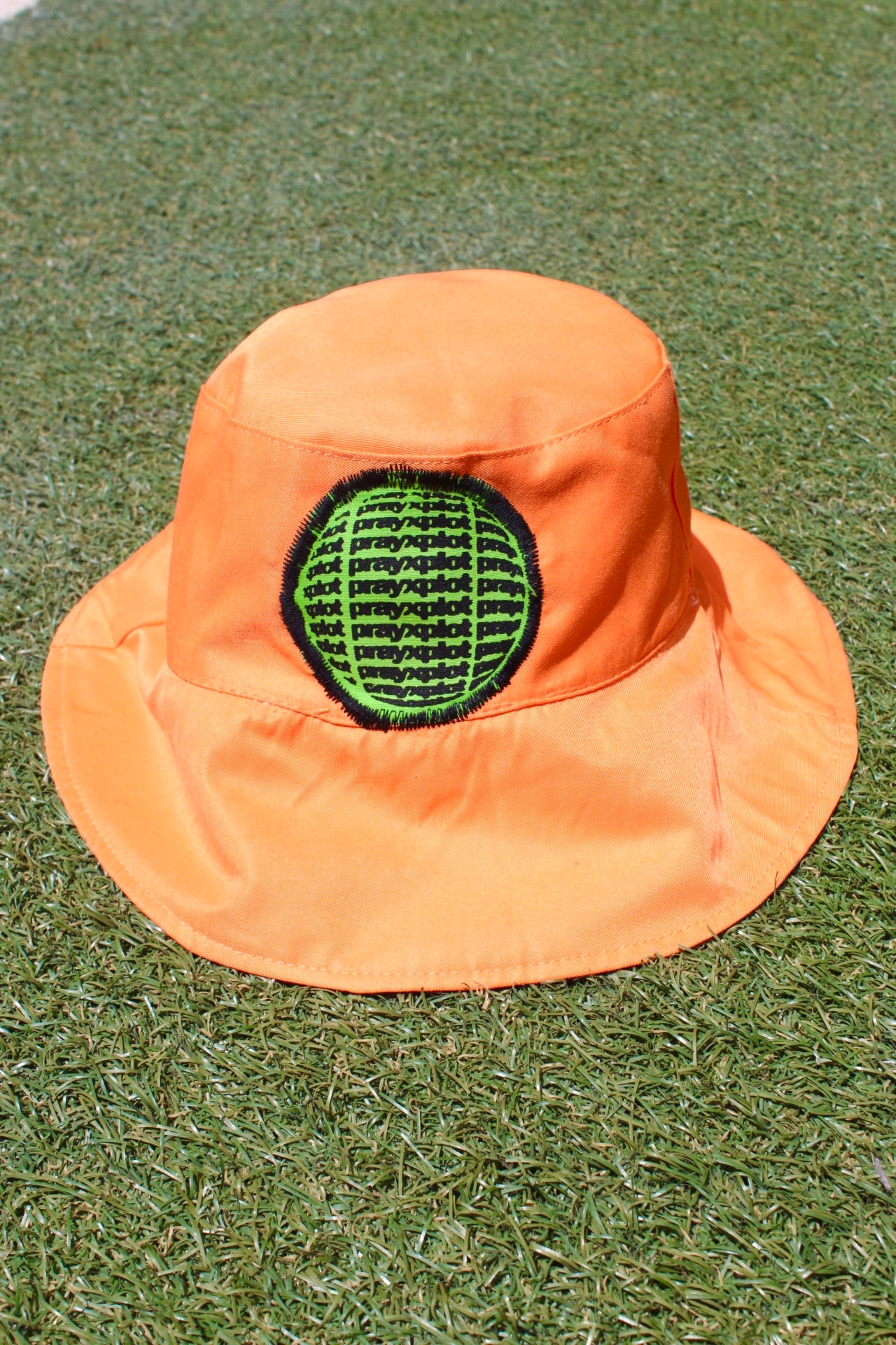 Image of just the right spots bucket hat in orange