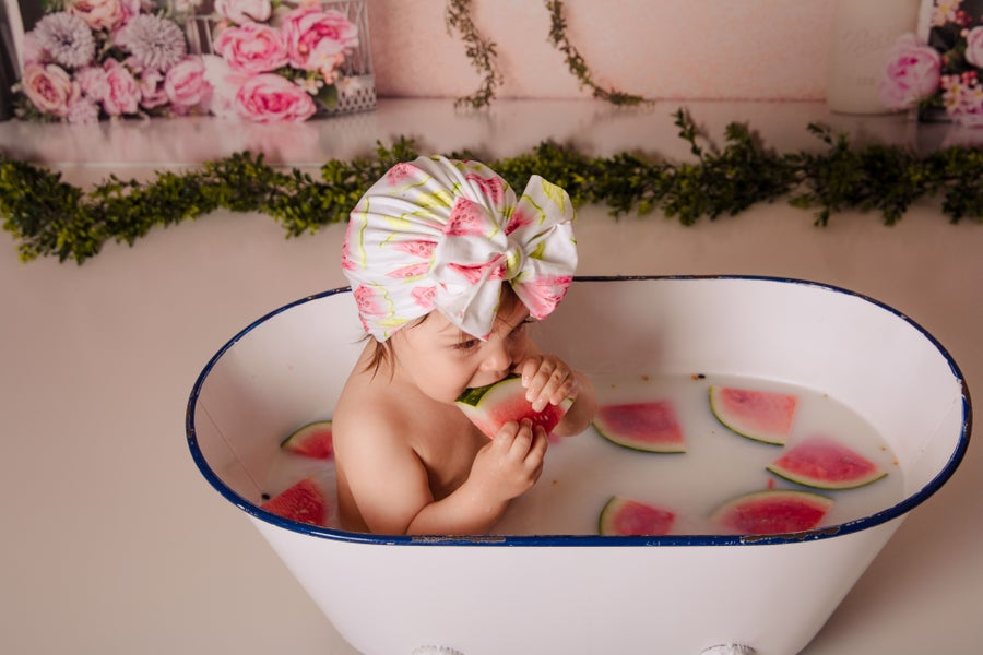 Image of Watermelon bow turban