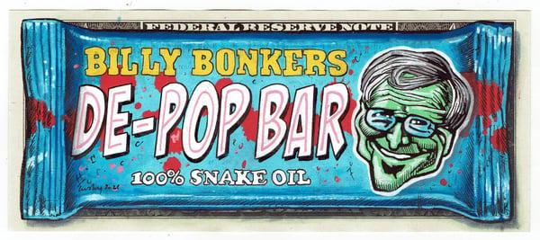 Image of Embossed Real Dollar Original. Billy Bonkers.