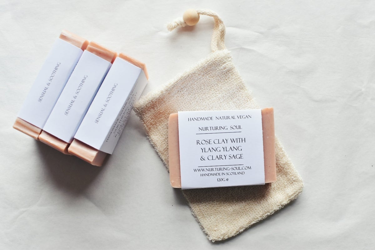 Image of Ramie soap pouch