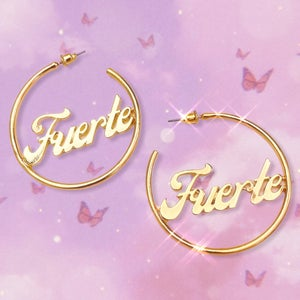 """Image of Stay Strong """"Fuerte"""" Earrings"""