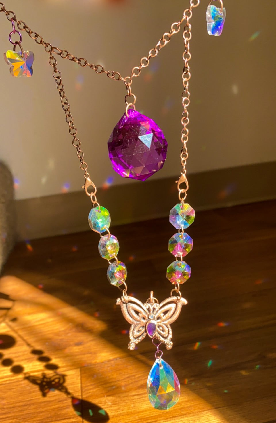 Image of jaunt wraps collab electroformed butterfly suncatcher