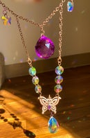 Image 3 of jaunt wraps collab electroformed butterfly suncatcher