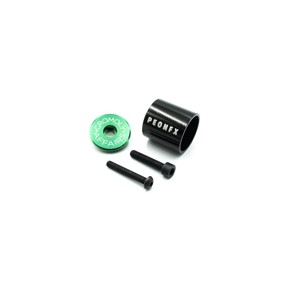 Image of TOP-A Green stem top cap and Aluminium light mount combo