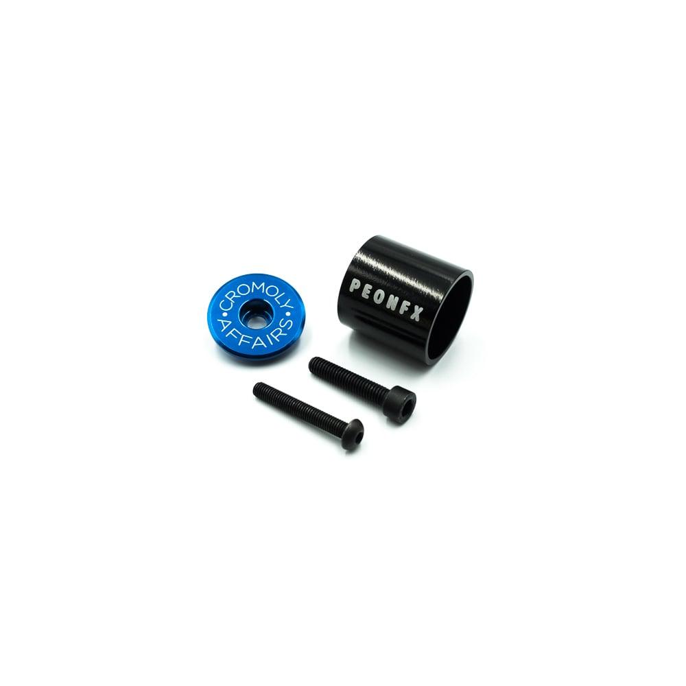 Image of TOP-A Blue stem top cap and Aluminium light mount combo