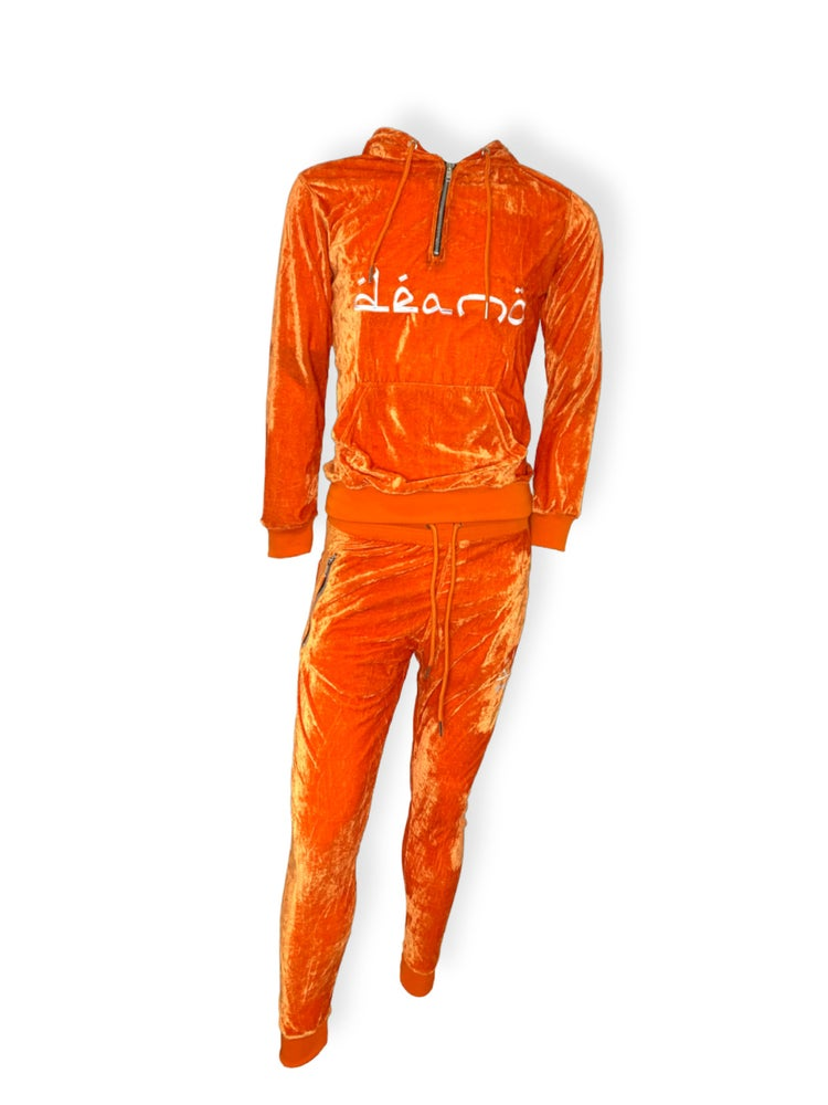 Image of Orange Big Don Velour Sweatsuit