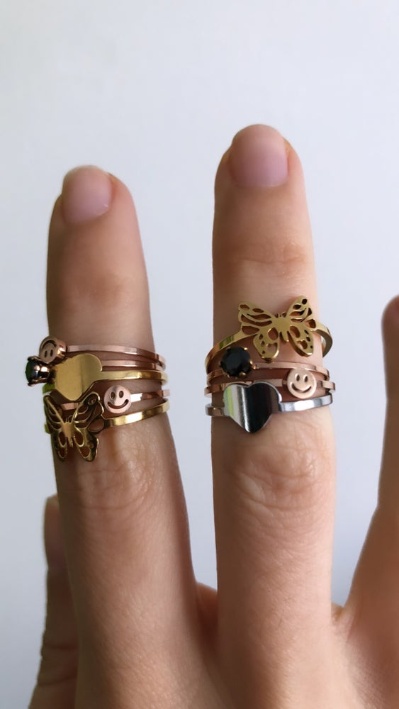 Image of ASSORTED STACKER RINGS