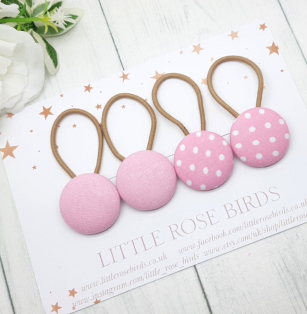 Image of Set of 4 Pink Hair Bobbles