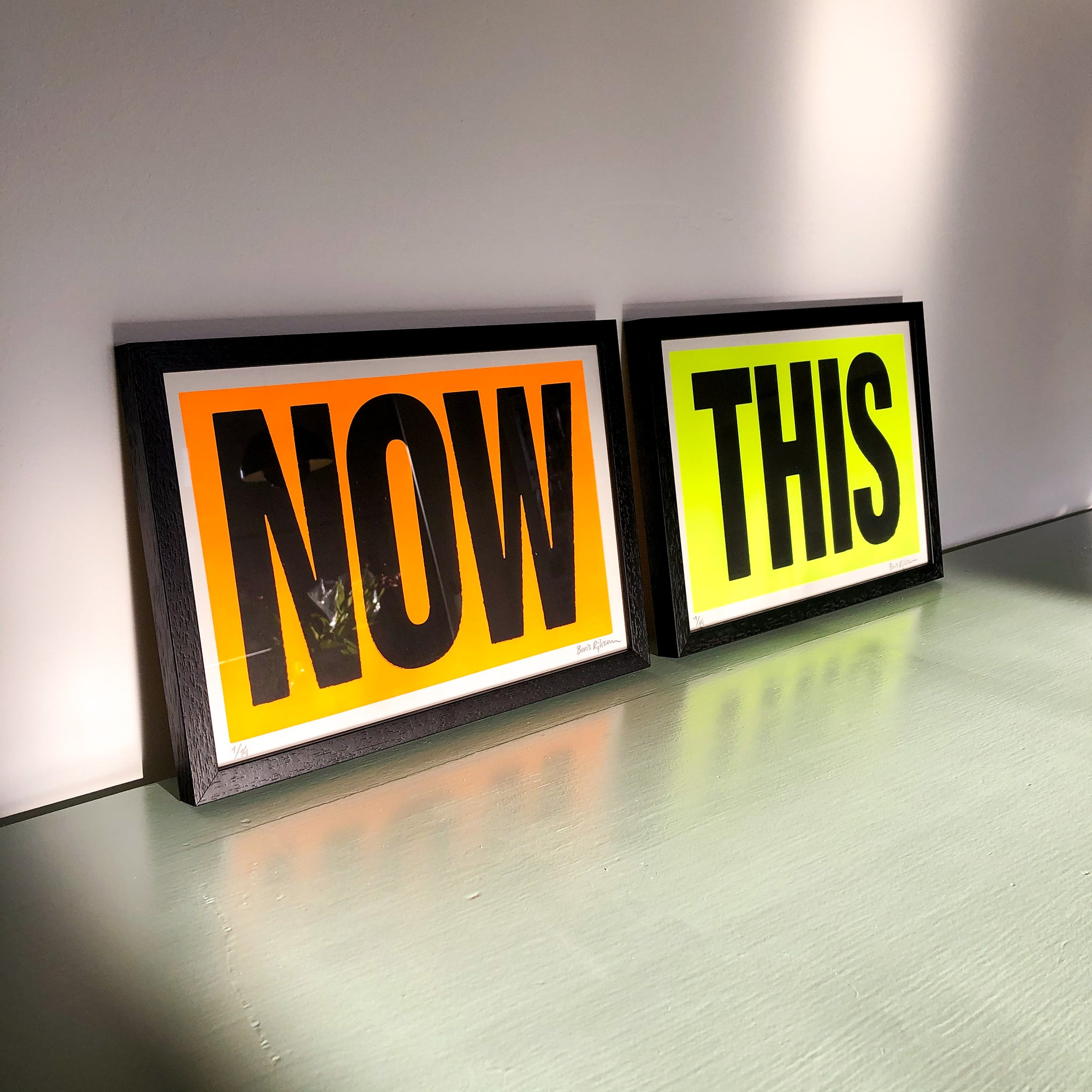 Image of Now This / This Here diptych