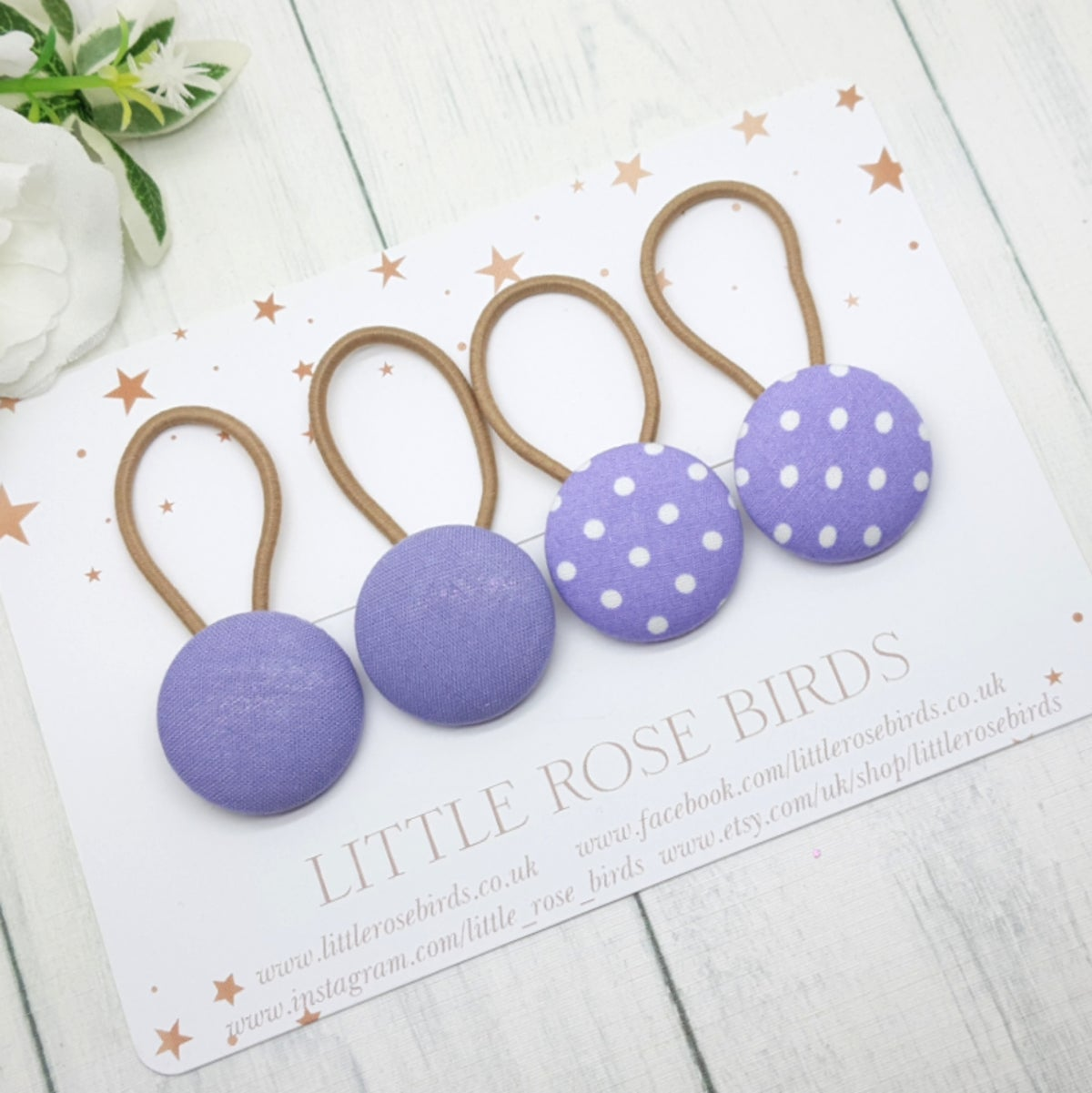 Image of Set of 4 Lilac Hair Bobbles