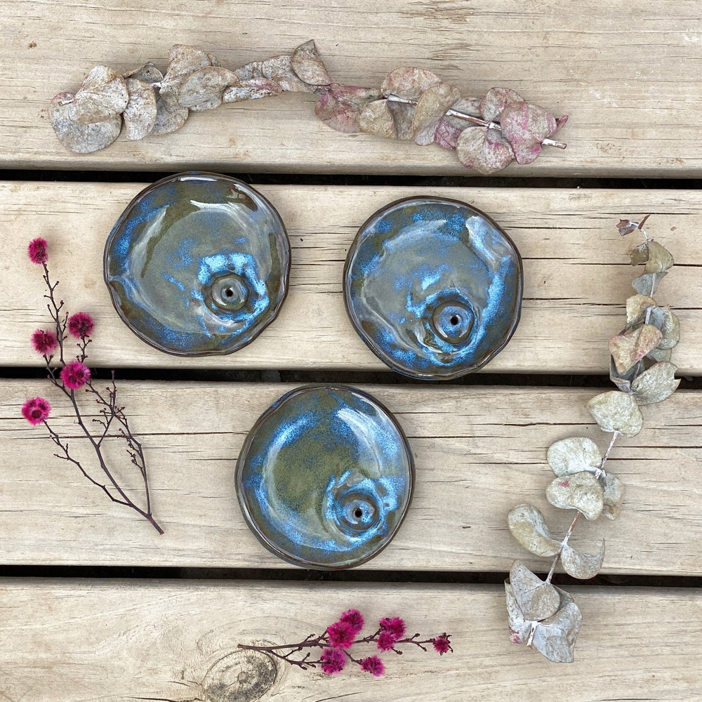 Image of Incense Holders, three colours to choose from.
