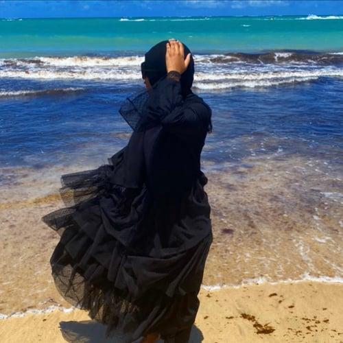Image of Sorella Abaya Dress Black