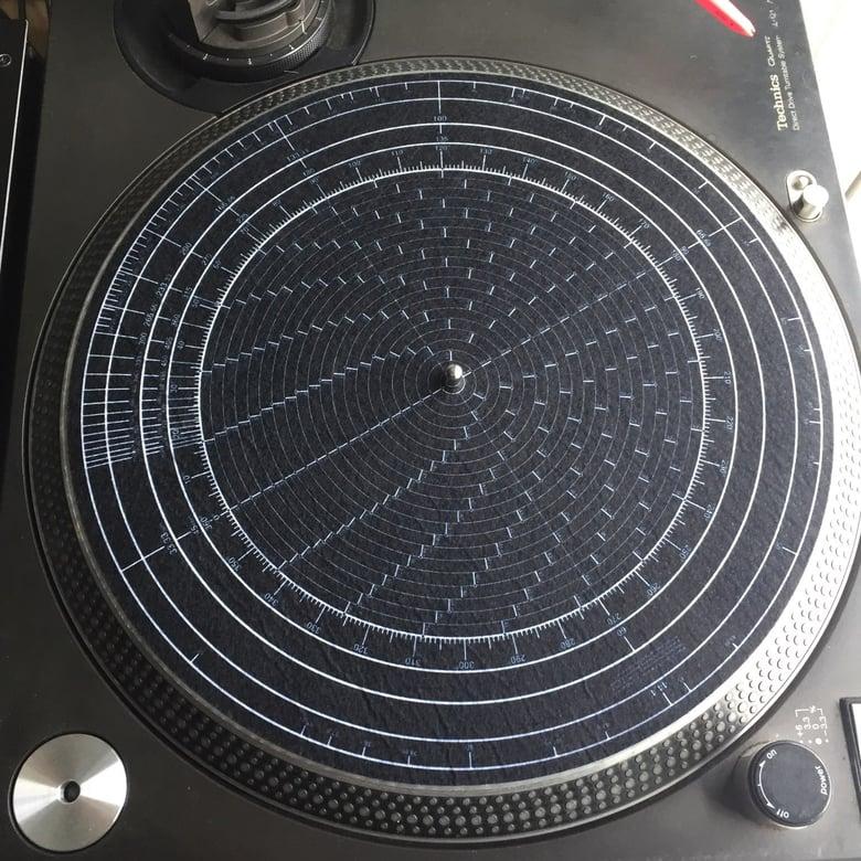 Image of 2 x BPM protractor slip matts by DJ Raedawn