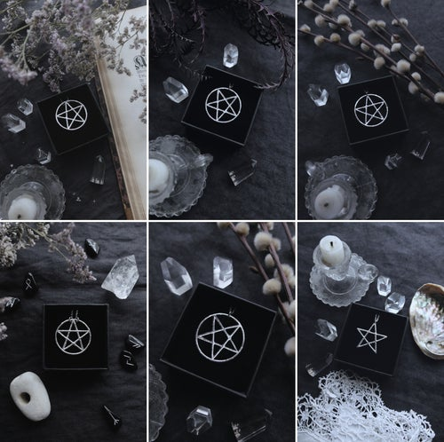 Image of SABBAT. PENTACLE / PENTAGRAM TALISMAN ↟ sterling silver - protection, air water fire earth & ether