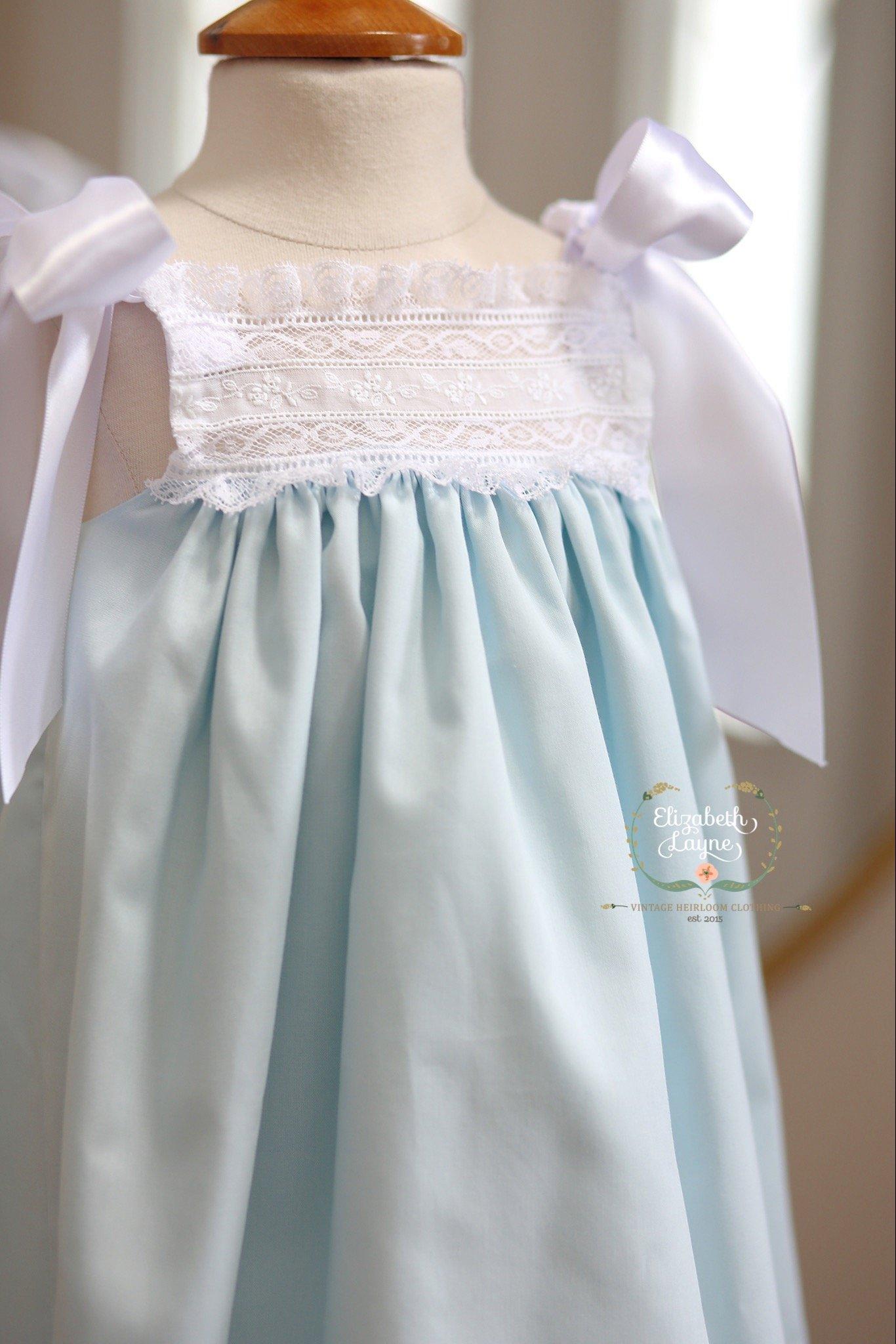 Image of The 'Layne' Ribbon Heirloom Dress