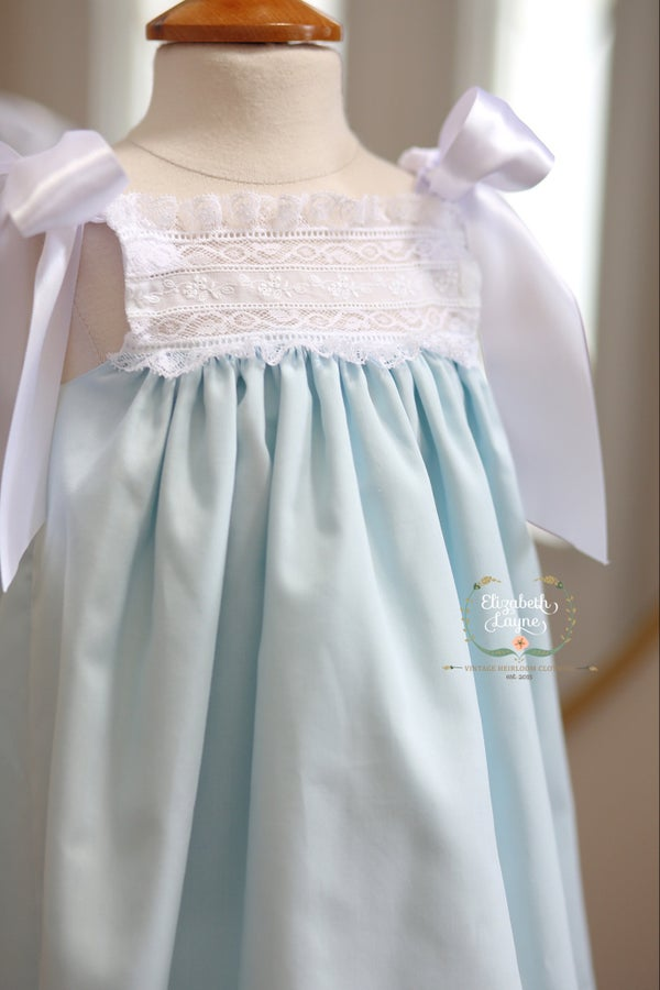 Image of The 'Layne' Ribbon Heirloom Dress