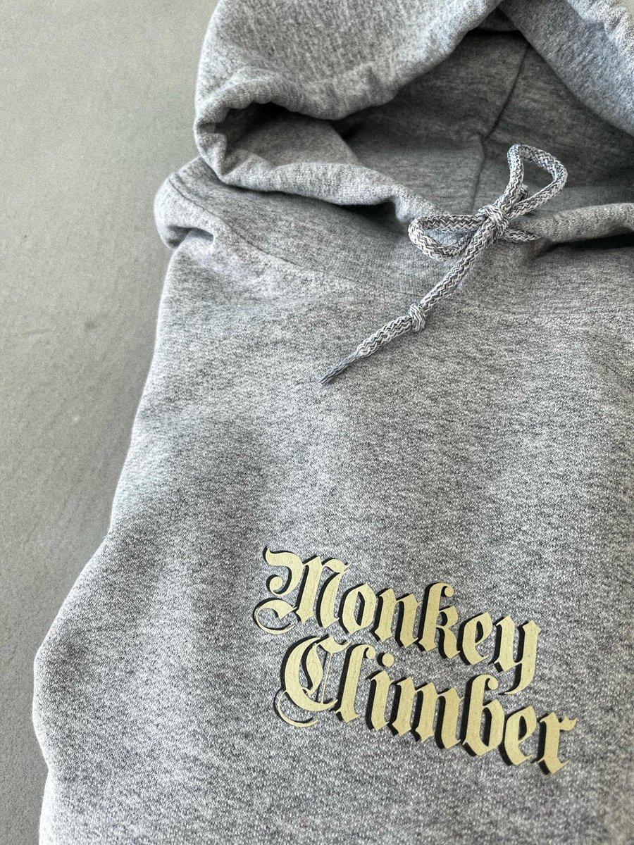Image of Monkey Climber MONK hoodie I Heather Grey