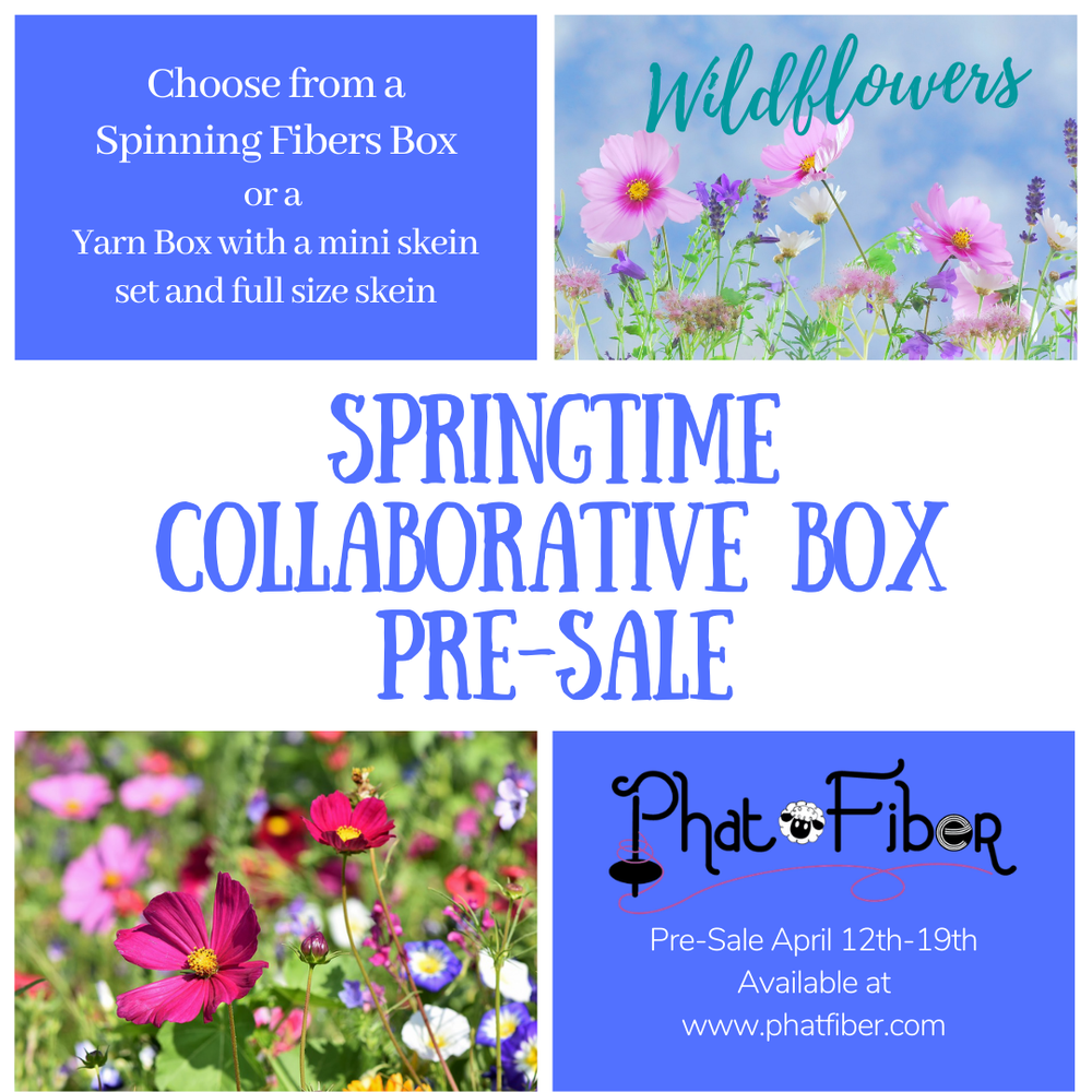 Image of **Special Pre-Sale  Phat Fiber Wildflowers Artists Collaboration Fiber Fluff Box**