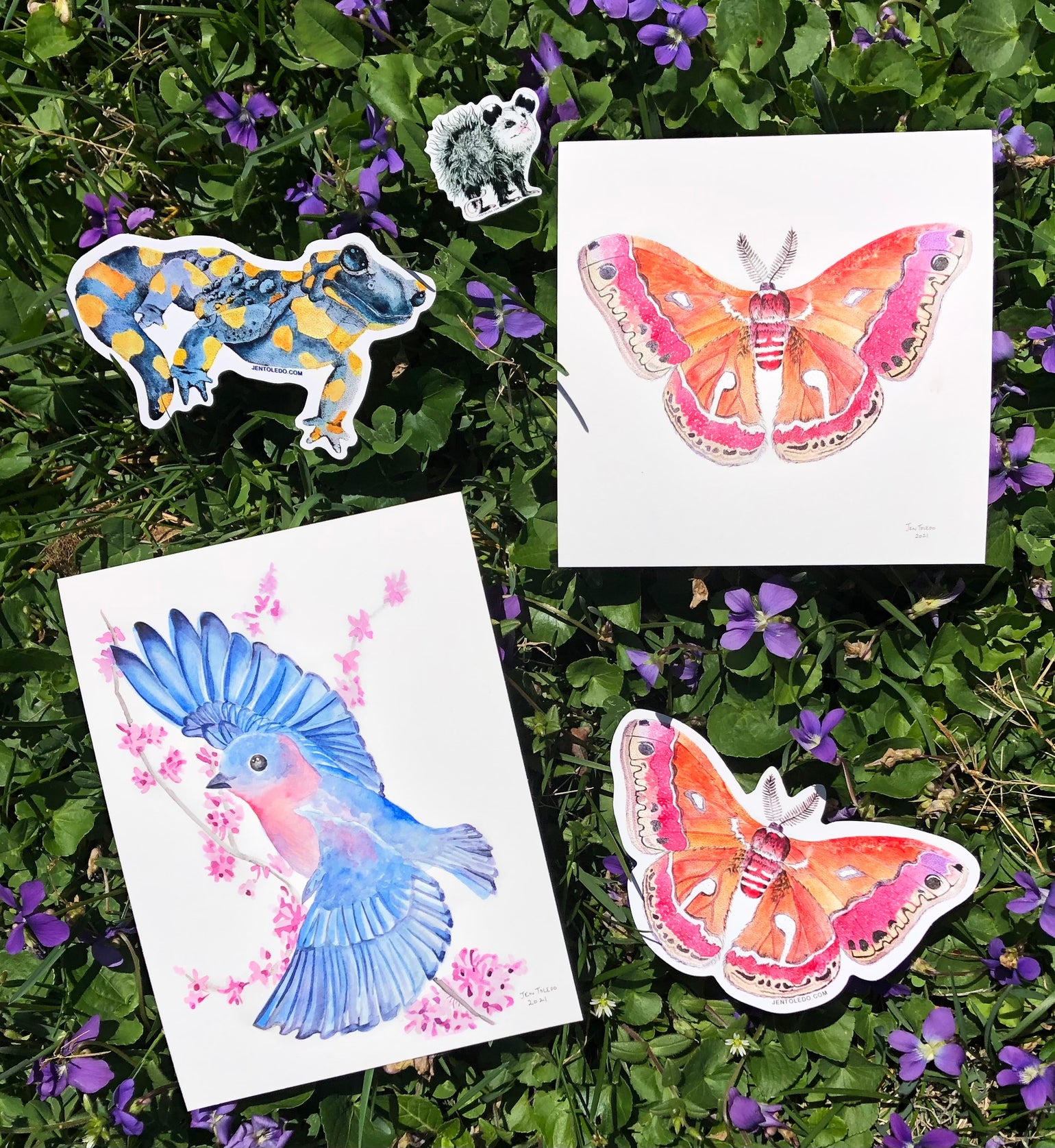 Image of Spring Print & Sticker Pack!