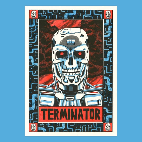 Image of Terminator - A3 Risograph Print