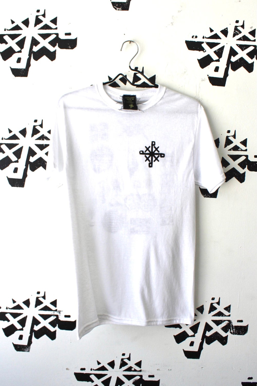 all on my back tee in white