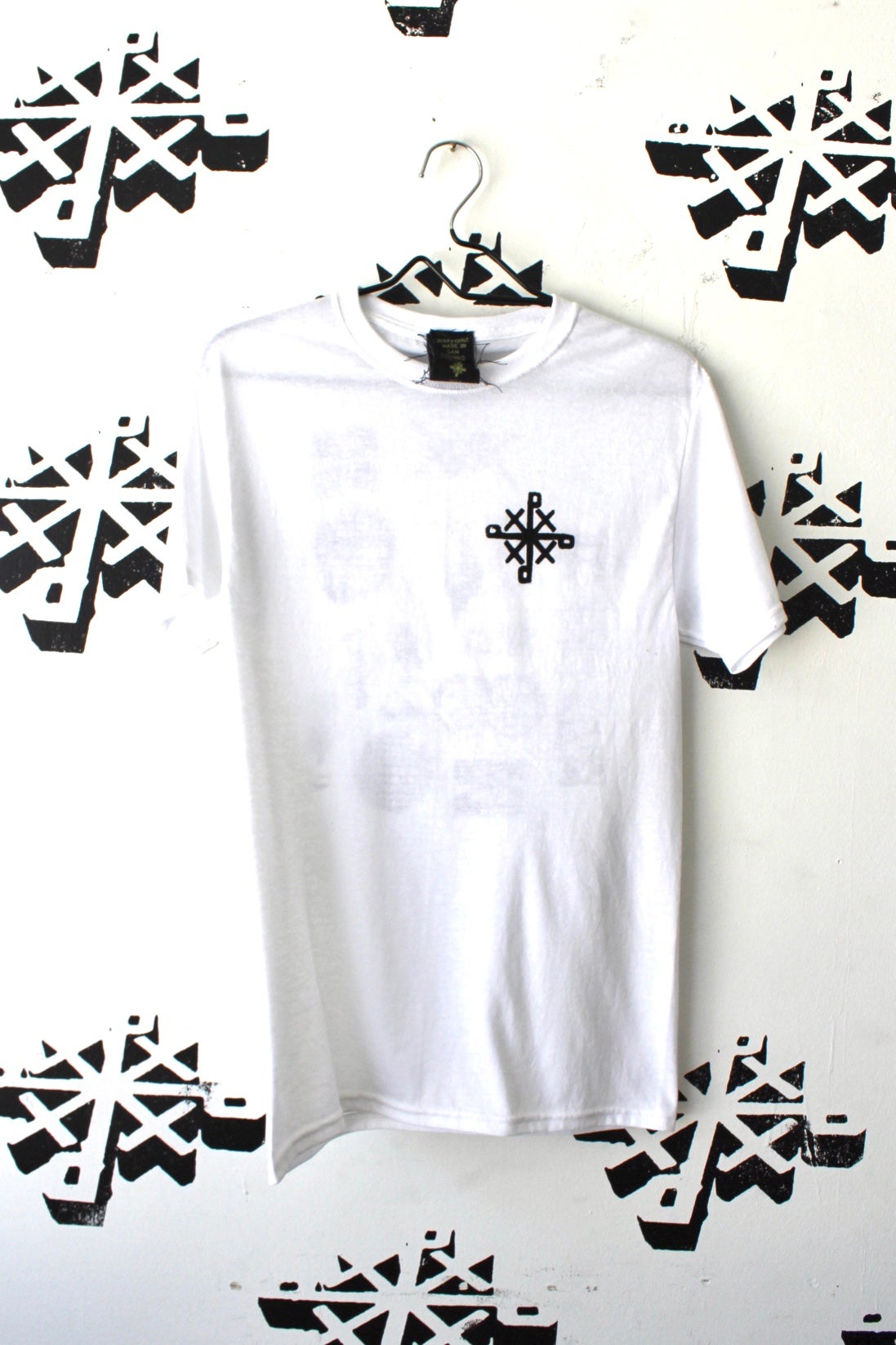 Image of all on my back tee in white