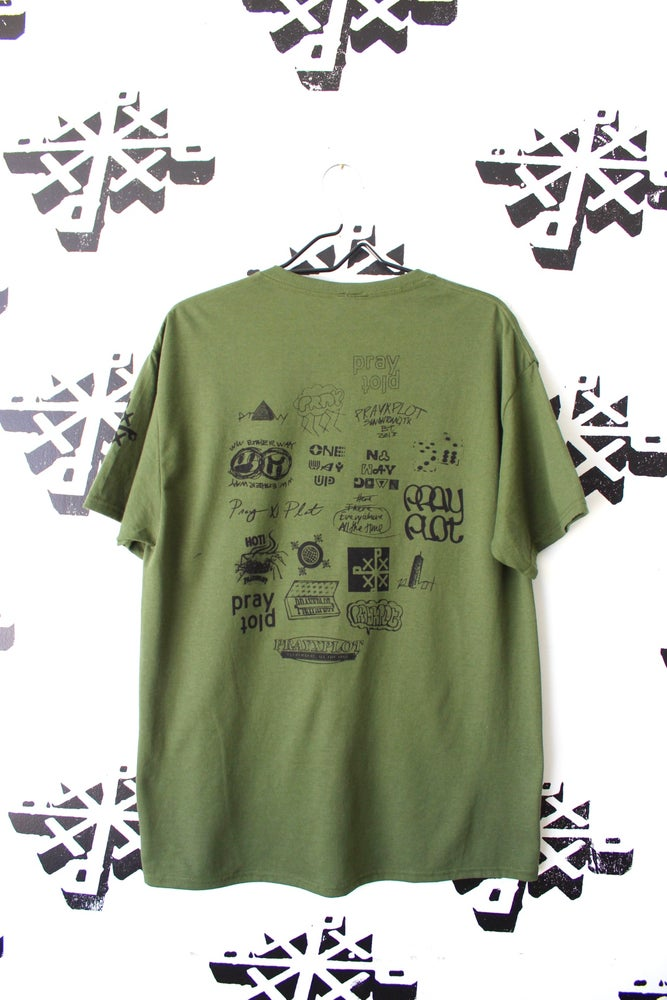 Image of all up here tee in army green