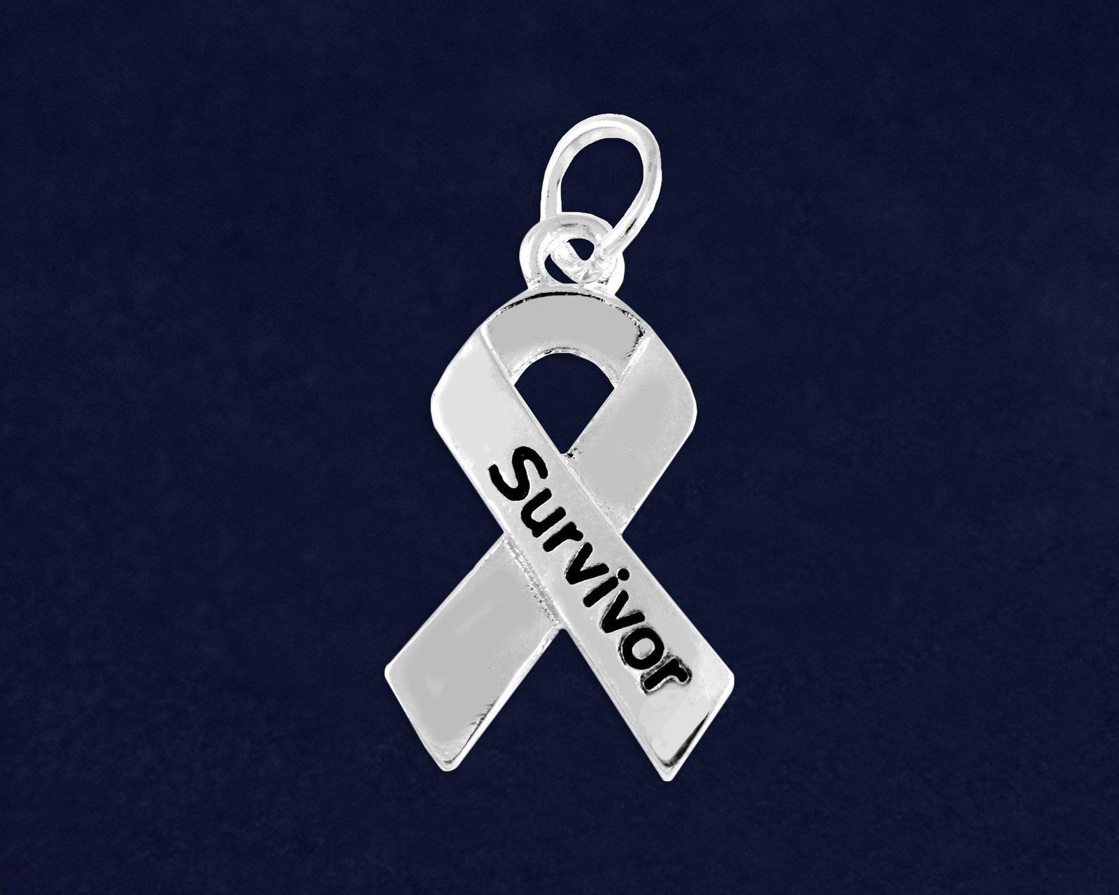 Key Chain Charm Survivor Ribbon Shaped Charm KRC140