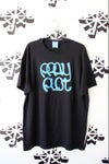 stick to the script tee in black