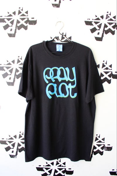 Image of stick to the script tee in black