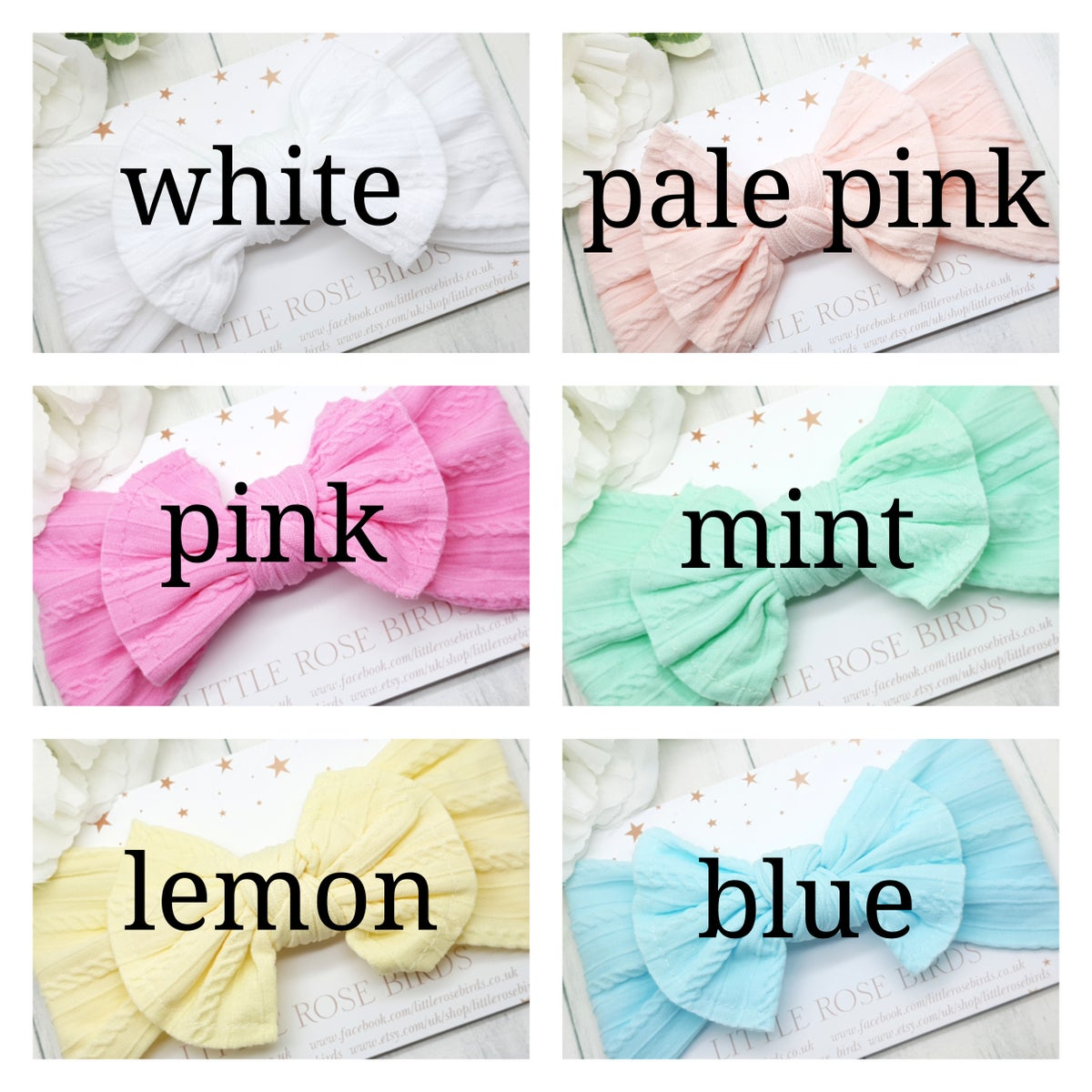 Image of Cable Knit Nylon Headbands - 11 Colours